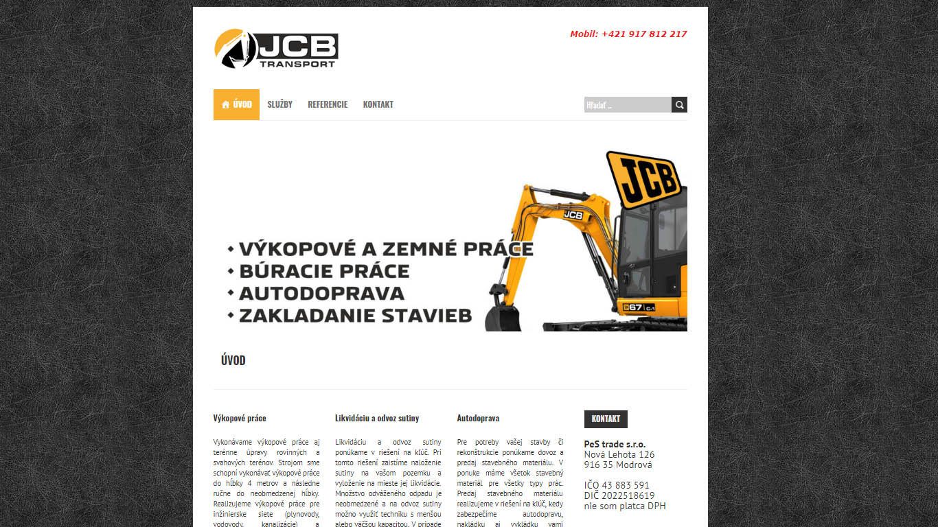 JCB transports.sk
